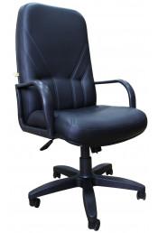 Кресло Менеджер, черная экокожа