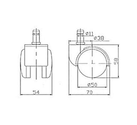 Ролики RSA 101 для кресел D - 11 мм