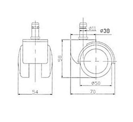 Ролики RSA 705 (ламинат, паркет) D - 11 мм