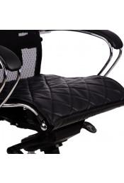 Накладка на сиденье для кресла Samurai, черная кожа