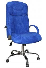 Q-21 хром ткань синяя (антикоготь)
